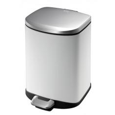 """Кош за отпадъци с педал """"DELLA"""" - 6 литра - бял EKO"""