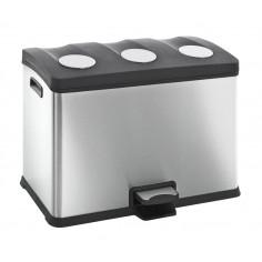 """Кош за разделно събиране на отпадъци с педал """"REJOICE"""" - 3 х 12 литра - мат EKO"""