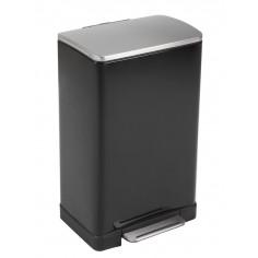 """Кош за отпадъци с педал """"E-CUBE"""" - 40 литра - черен EKO"""