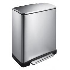 """Кош за разделно събиране на отпадъци с педал """"E-CUBE"""" - (28 + 18) литра - мат EKO"""