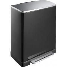 """Кош за разделно събиране на отпадъци с педал """"E-CUBE"""" - (28 + 18) литра - черен EKO"""