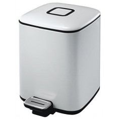 """Кош за отпадъци с педал """"REGENT"""" - 6 литра - бял EKO"""