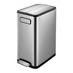 """Кош за разделно събиране на отпадъци с педал """"ECOFLY"""" - 2 х 20 литра - мат EKO"""