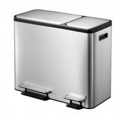 """Кош за разделно събиране на отпадъци с 2 педала """"ECOCASA"""" - (30 + 15) литра - мат EKO"""