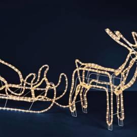 Светещ елен с шейна L - 1.60 m, led лампички 14 м
