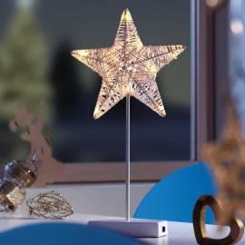 Коледна звезда 43 см led, с батерия