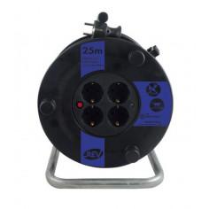 Кабелна макара REV, H05VV-F, 3x1,5 мм², 4 гнезда, 25 м