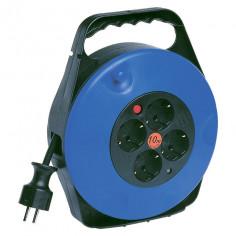 Кабелна макара H05VV-F, 3x1,5 мм², 4 гнезда, синя, 10 м