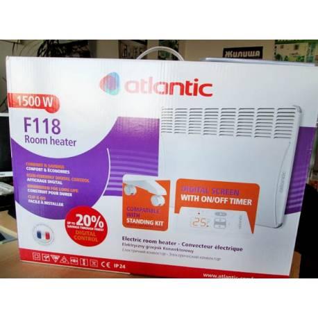 Конвектор Atlantic F118 Design - 1500 W с дигитален панел за управление