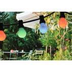 Светещ гирлянд 10 м, 10 бр. цветни лампи