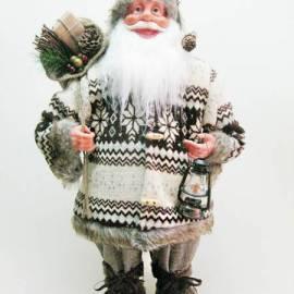 Дядо Коледа - 60 см, с кафяви дрехи