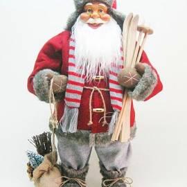 Дядо Коледа - 60 см, червен, с шапка