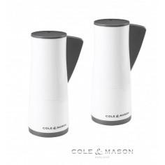 """Imagén: Комплект мелнички за сол и пипер """"OXLEY"""" - 14,5см - цвят бял COLE & MASON"""