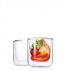 Комплект от 2 бр двустенни стъклени чаши NERO за кафе - 200 мл BLOMUS