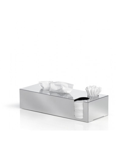 Кутия за салфетки, почистващи тампони и клечки за уши NEXIO - полирана BLOMUS