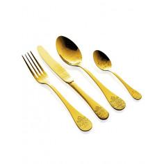 "Imagén: Комплект прибори за хранене ""POMPADOUR""- 24 части  - старо злато - HERDMAR"
