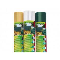 Imagén: Eднолицева пластмасова ограда PLASTICANE, 1x3m -цвят бамбук (бежов)