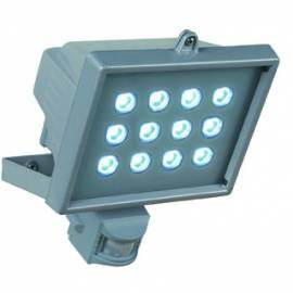 LED прожектор със сензор IP44, 12W, 860lm