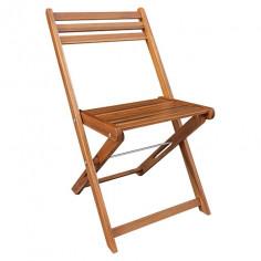 Градински сгъваем стол, дървен