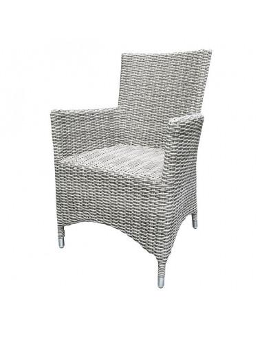 a4e4738c7d9 Стол - кресло от ратан, светло сив - Магазин Жилища