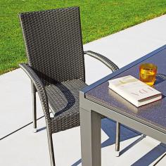 Ратанов стол, сив
