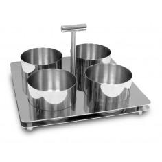 Комплект за сервиране с 4 броя купички - SILAMPOS