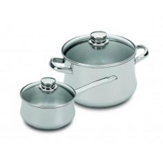 """Комплект съдове за готвене """"Low cost I glass"""" – 4 части - SILAMPOS"""