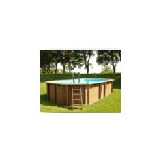 Дървен Овален басейн с...