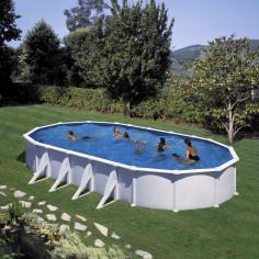 Сглобяем басейн с метална стена овал 915 x 470, h 132см.