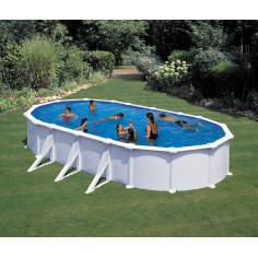 Сглобяем басейн с метална стена овал 730 x 375, h 132см.