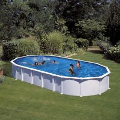 Сглобяем басейн с метална стена овал 915 x 470 h 132см.