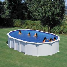 Сглобяем басейн с метална стена овал 610 x 375, h 132см.