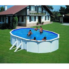 Сглобяем басейн с метална стена овал 500 x 300, h 120см.