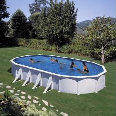 Сглобяем басейн с метална стена овал 800 x 470, h 132см.