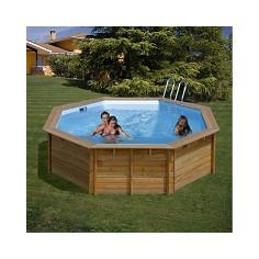 Дървен кръгъл басейн с външни размери Ø 511 x 124 cm