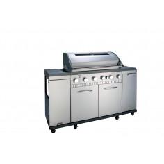 Газово барбекю-кухня 163х120х56см.-6 броя безстепенни стоманени горелки