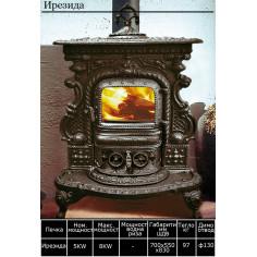 Печка на твърдо гориво Ирезида - 5 kW