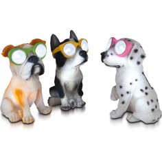 Соларна лампа - Куче с очила