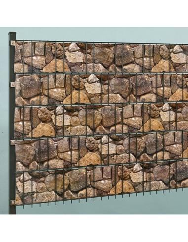 Ивици за визуална защита, 2050x19 см, натрошен камък, ролка