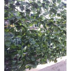 Изкуствено озеленяване за ограда, 1,5х3,0 м, бръшлян