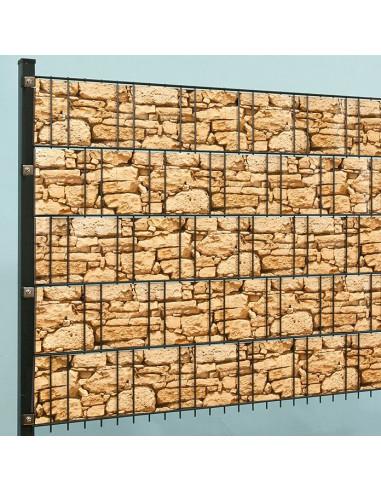 Ивици за визуална защита, 2050x19 см, камък, ролка