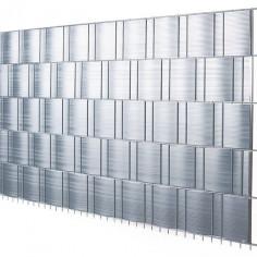 Ивици за визуална защита, 201,5x19,2 см, 5 броя, сребриста