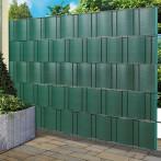 Ивици за визуална защита, 201,5x19,2 см, 5 броя, зелена