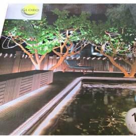 Светлинен маркуч - за градина, 18 m, бял