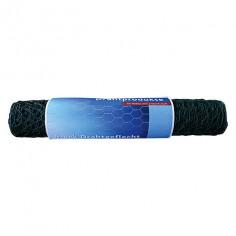 Телена мрежа - шестоъгълна, зелена, растер 25 мм, 10х0,5 м