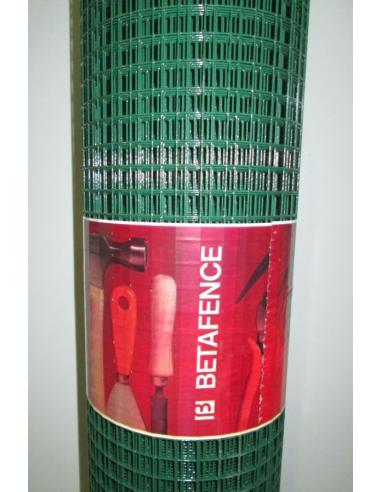 Рабицова плетена мрежа - зелена, 1х25 м
