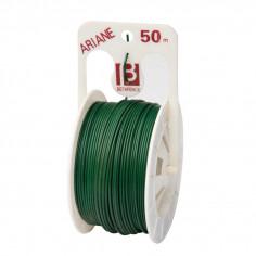 Тел на ролка с PVC покритие, 50 м, зелена