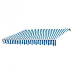 Imagén: Тента полиестерна - 4 x 2,5 м, синьо и бяло с чупещо рамо