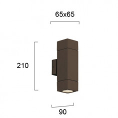Фасаден аплик кафяв - 210х65х65 мм