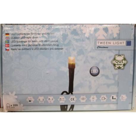 Led светлинна верига - външна, 200 лампички, 40 м, 12,8 W